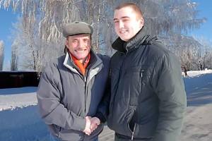Дед с внуком.