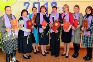 Участники конкурса педагогического мастерства «Учитель года» в Колпне.
