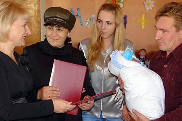 В Колпнянском ЗАГСе.